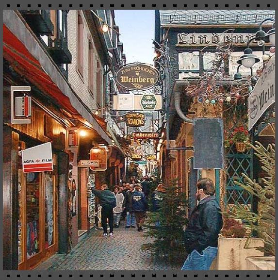 Винный городок Рюдерсхайм на Рейне